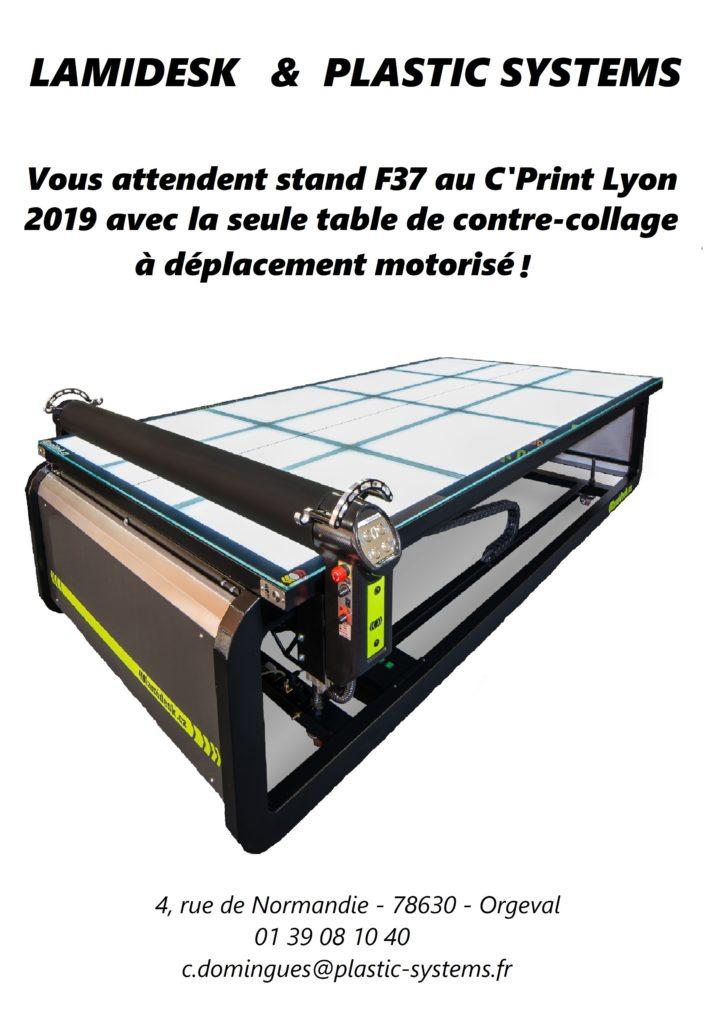 Plastic Systems Industrie avec Lamidesk au salon C'Print Lyon 2019